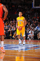 California guard Jerome Randle #3 brings the ball up the court against the Syracuse Orangemen at the 2K Sports Classic at Madison Square Garden. (Mandatory Credit:Delane Rouse Photography)