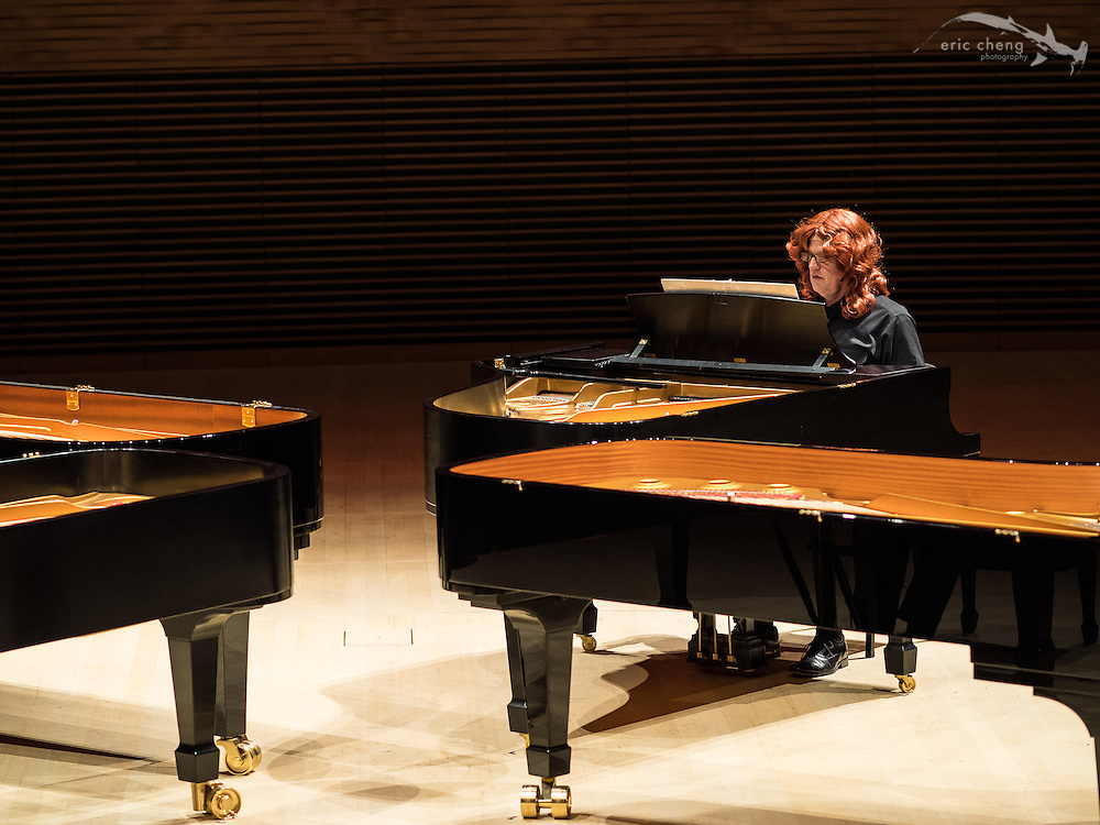 4-piano Czerny piece, starring wigged out pianists, Bing Concert Hall, Stanford University