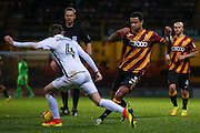 Bradford City defender James Meredith (3) lays the ball off  during the EFL Sky Bet League 1 match between Bradford City and Northampton Town at the Coral Windows Stadium, Bradford, England on 22 November 2016. Photo by Simon Davies.