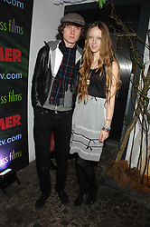 Model MORWENNA LYTTON COBBOLD and MATTHEW LASKEY at the launch Beyond The Rave - Hammer's first horror movie in 30 years, held at Shoreditch House, London on 16th April 2008.<br /><br />NON EXCLUSIVE - WORLD RIGHTS