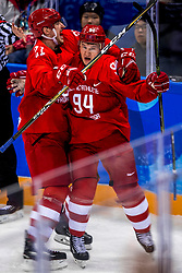 16-02-2018 KOR: Olympic Games day 7, PyeongChang<br /> Ice Hockey Russia (OAR) - Slovenia / forward Alexander Barabanov #94 of Olympic Athlete from Russia scores