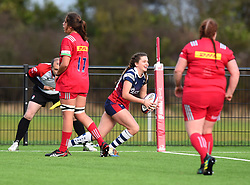 Lilly Stoeger-Goddard of Bristol Bears Women celebrate her try - Mandatory by-line: Paul Knight/JMP - 01/12/2018 - RUGBY - Shaftesbury Park - Bristol, England - Bristol Bears Women v Harlequins Ladies - Tyrrells Premier 15s