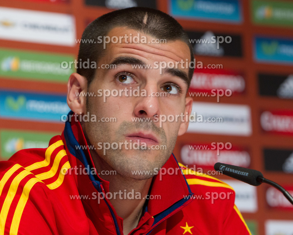 24.05.2012, Haus des Gastes, Schruns, AUT, UEFA EURO 2012, Trainingslager, Spanien, Pressekonferenz, im Bild Alvaro Negredo (ESP) // Alvaro Negredo of Spain during Pressconference of Spanish National Footballteam for preparation UEFA EURO 2012 at Haus des Gastes, Schruns, Austria on 2012/05/24. EXPA Pictures © 2012, PhotoCredit: EXPA/ Johann Groder