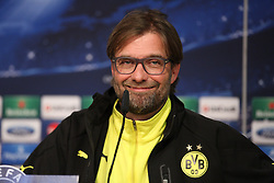 01.04.2014, Estadio Santiago Bernabeu, Madrid, ESP, UEFA CL, Real Madrid vs Borussia Dortmund, Viertelfinale, Hinspiel, im Bild Trainer Juergen Klopp (Borussia Dortmund) // before the UEFA Champions League Round of 8, 1nd Leg match between Real Madrid and Borussia Dortmund at the Estadio Santiago Bernabeu in Madrid, Spain on 2014/04/01. EXPA Pictures © 2014, PhotoCredit: EXPA/ Eibner-Pressefoto/ Schueler<br /> <br /> *****ATTENTION - OUT of GER*****