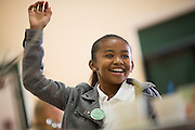Students challenge other MUSD students and faculty to fundraise more canned goods and money during the Jack Emery Food Drive luncheon at Milpitas Community Center in Milpitas, California, on November 4, 2014. (Stan Olszewski/SOSKIphoto)