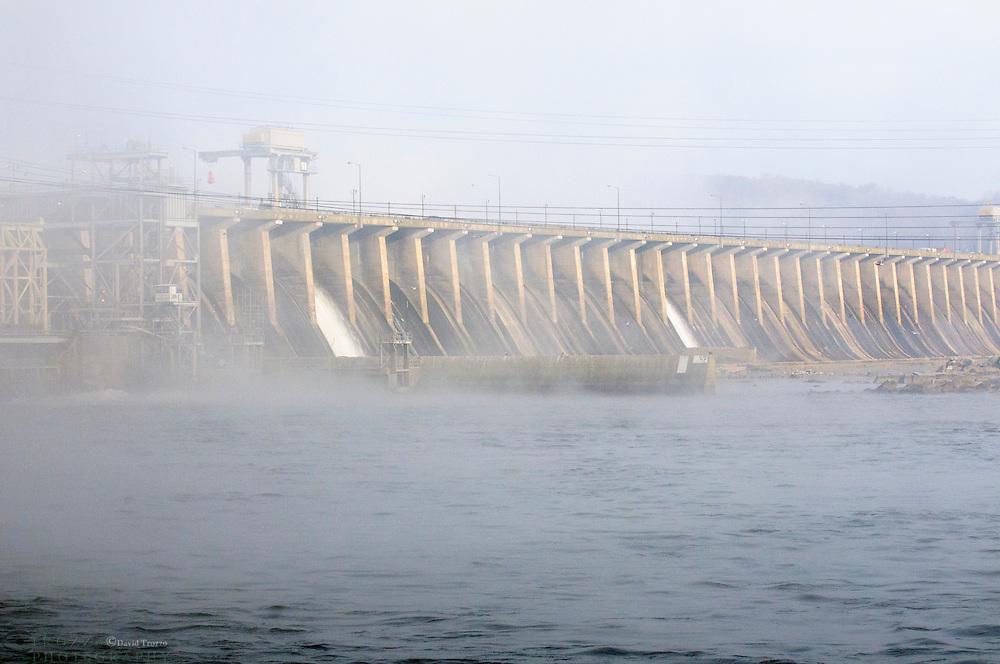 The Conowingo dam, crosses the susquehanna river in northern Maryland, USA.
