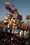 """During the parade on the waterfront socallled """"paseggiata"""". Allegorical carriages."""