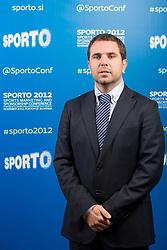 Tomaz Jontes of Telekom during sports marketing and sponsorship conference Sporto 2012, on November 26, 2012 in Hotel Slovenija, Congress centre, Portoroz / Portorose, Slovenia. (Photo By Vid Ponikvar / Sportida.com)