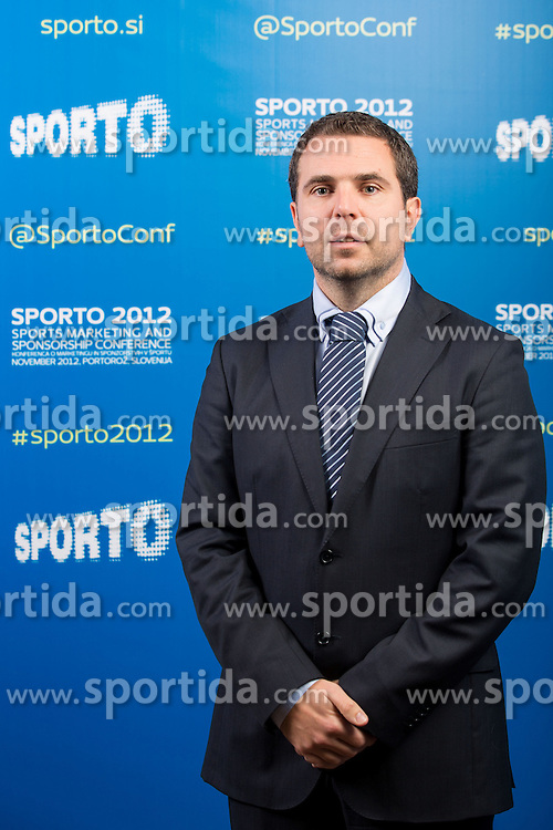Tomaz Jontes of Telekom during sports marketing and sponsorship conference Sporto 2012, on November 26, 2012 in Hotel Slovenija, Congress centre, Portoroz / Portorose, Slovenia. (Photo By Vid Ponikvar / Sportida.com)