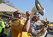 September 29 2012: Members of the Alumni Hawkeye Marching band play in the parking lot before the start of the NCAA football game between the Minnesota Golden Gophers and the Iowa Hawkeyes at Kinnick Stadium in Iowa City, Iowa on Saturday September 29, 2012. Iowa defeated Minnesota 31-13 to claim the Floyd of Rosedale Trophy.
