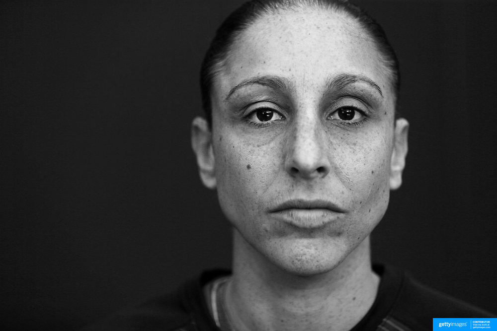 Player Portraits: Diana Taurasi<br /> <br /> The 2016 USA Basketball Women's National Team Training Camp at the  University of Connecticut&rsquo;s Werth Family UConn Basketball Champions Center, Storrs, Connecticut. 21st February 2016. Photo Tim Clayton