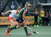 Surbiton's Georgie Twigg on the attack against Den Bosch during their semi final of the EHCC 2017 at Den Bosch HC, The Netherlands, 3rd June 2017