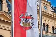 Flagge, Baden bei Wien, Niederösterreich, Österreich .|.flag, Baden, Niederösterreich, Austria..