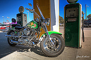 Bill Church's Motorcycle parked out front of Quaker Steak and Lube in Pinellas Park Florida. Bike Night every Wednesday night.