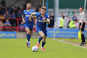 Jake Reeves midfielder for AFC Wimbledon (8) in action during the Sky Bet League 2 match between AFC Wimbledon and Newport County at the Cherry Red Records Stadium, Kingston, England on 7 May 2016. Photo by Stuart Butcher.