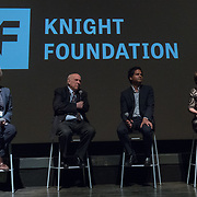 FEBRUARY 19, 2018--MIAMI, FLORIDA-<br /> From left; Dana Priest, journalist and educator, Floyd Abrams, attorney, Jameel Jaffer, director, Knight First Amendment Institute at Columbia University and moderator Jennifer Preston, VP/Journalism at Knight Foundation. This was following a screening of the movie The Post. This was part of the opening reception for the Knight Media Forum.<br /> (Photo by Angel Valentin)