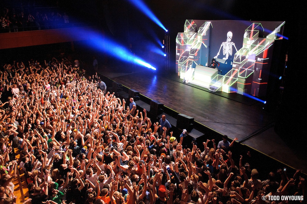 Skrillex performing at the Pageant on his Mothership Tour Thursday night, November 3.