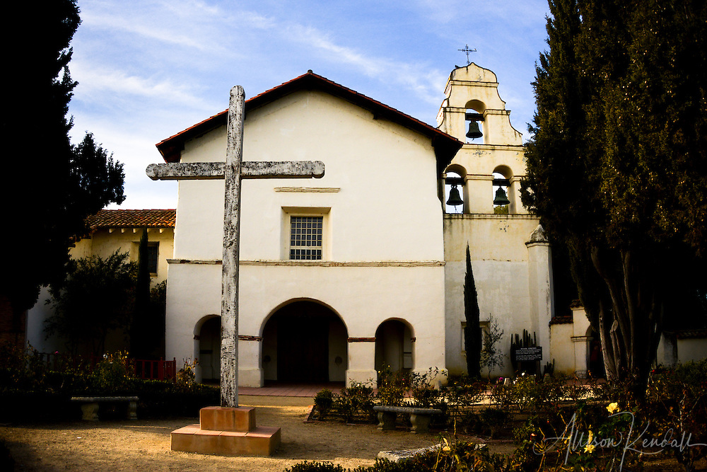 Exterior details and angles of the mission at San Juan Bautista
