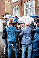 DEN HAAG - Gert-Jan Segers (ChristenUnie) komt aan bij het Johan de Witthuis voor de formatiegesprekken met informateur Gerrit Zalm en de onderhandelaars van VVD, CDA en D66.  copyrught robin utrecht