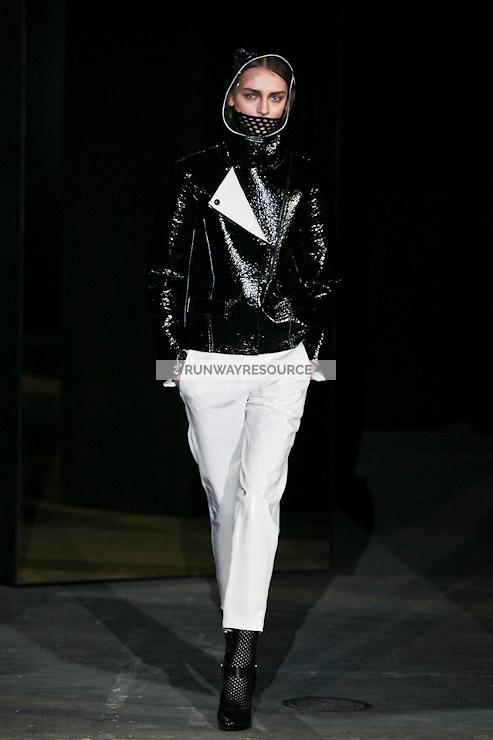 Daga Ziober walks down runway for F2012 Alexander Wang's collection in Mercedes Benz fashion week in New York on Feb 12, 2012 NYC