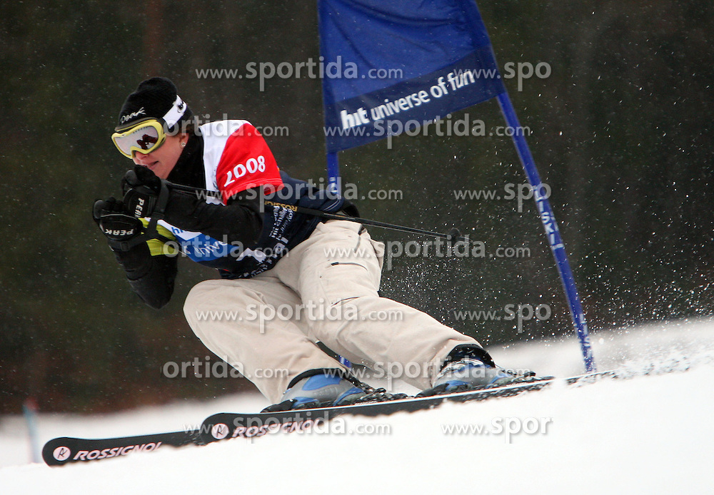 "Spela Pretnar during the first run of ""Ski Legends HIT Challenge by Jure Kosir"" event in Kranjska Gora, Slovenia, on February 2, 2008. (Photo by Vid Ponikvar / Sportal Images)."