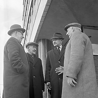 R4373a<br /> 1916 Commemoration in 1966. Pictured are John Hendrick, P.Cullen, P.Dutton and Jim Finlay. April 3 1966. <br /> (Part of the NPA and Independent Newspapers)