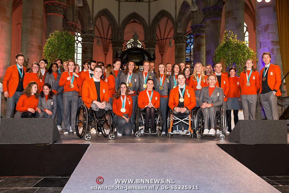 NLD/Den Haag/20180323 - Huldiging Olympische en Paralympische medaillewinnaars,