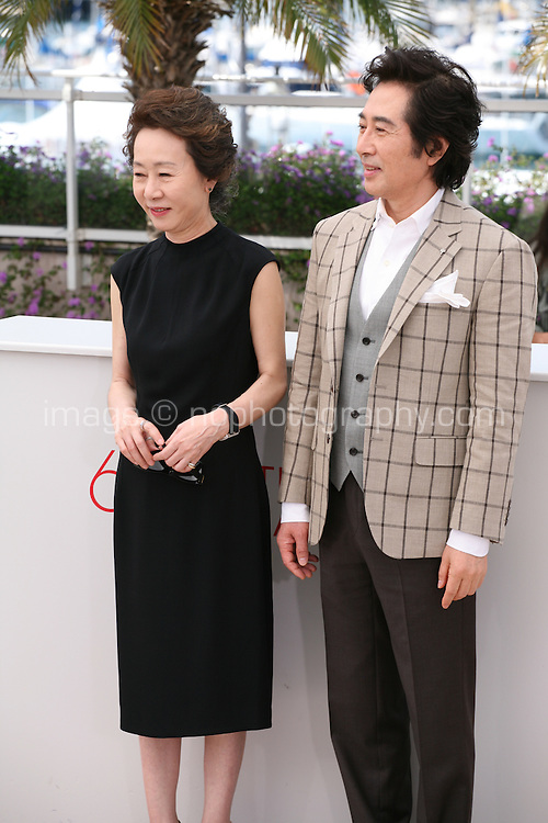 Youn Yuh-jung, Baek Yoon-sik,  at The Taste of Money photocall at the 65th Cannes Film Festival France. Saturday 26th May 2012 in Cannes Film Festival, France.