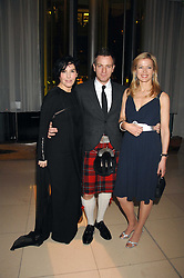 Left to right, SHARLEEN SPITERI, EWAN MCGREGOR and LADY HELEN TAYLOR at 'Not Another Burns Night' in association with CLIC Sargebt and Children's Hospice Association Scotland held at ST.Martins Lane Hotel, London on 3rd March 2008.<br />