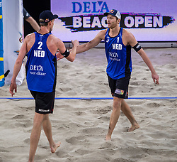 06-01-2018 NED: DELA Beach Open day 4, Den Haag<br /> Alexander Brouwer NED #1, Robert Meeuwsen NED #2