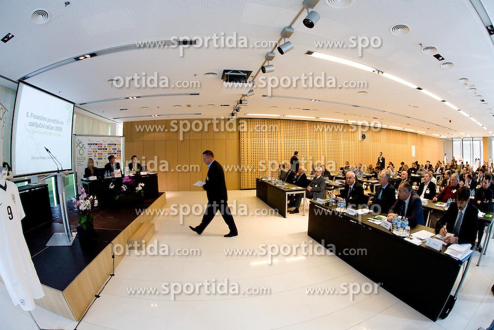 Tugomir Frajman at General Assembly of Slovenian Football Federation NZS due to it's 90-years Anniversary , on April 24, 2010, in Kongresni center Brdo, Brdo pri Kranju, Slovenia. (Photo by Vid Ponikvar / Sportida)