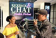 New York, New York-May 29- United States: (L-R) Actor Corey Hawkins and Media Personality Amber Pickens attend Kickback & Chat with Amber Pickens with special guest Actor Corey Hawkins held at the Cadillac house on May 29, 2017 in New York City.  (Photo by Terrence Jennings/terrencejennings.com)
