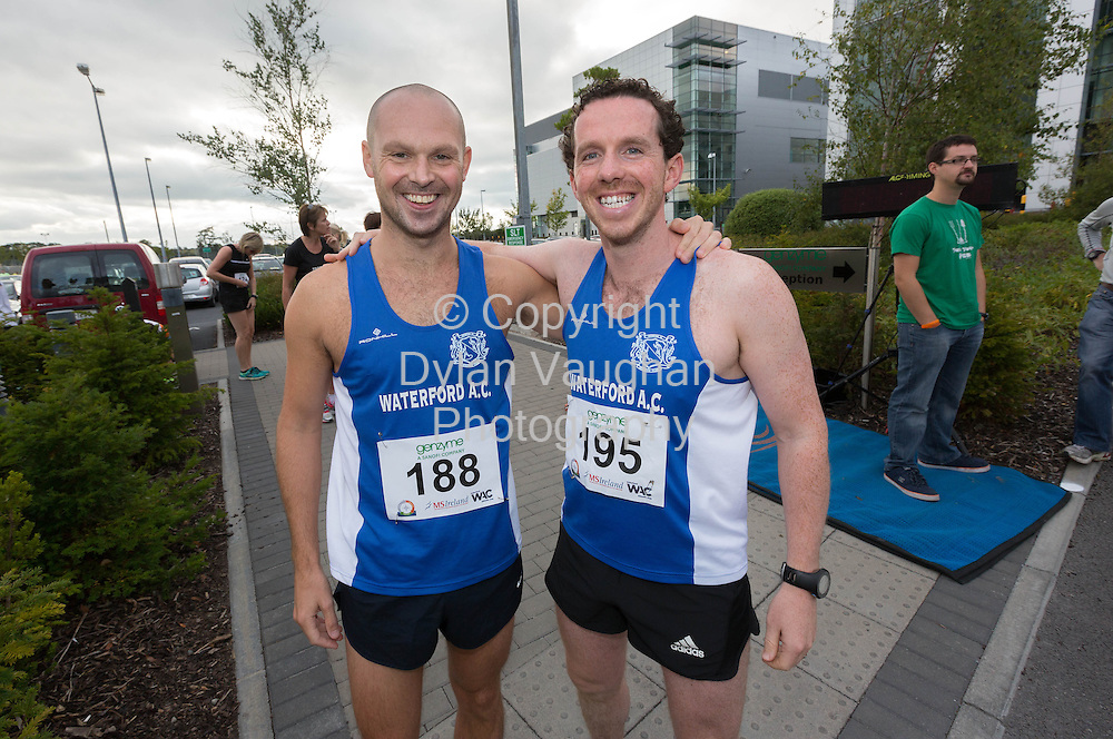 No Repro Fee<br /> <br /> <br /> 301/8/2013<br /> Tony Quinlan and John Nolan pictured at the third annual Genzyme for MS Five Mile Road Race in Waterford on Friday (Aug 30). All proceeds from the race are going to the Waterford branch of the Multiple Sclerosis Society of Ireland. <br /> <br /> Picture Dylan Vaughan.