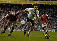 Photo: Olly Greenwood.<br />Tottenham Hotspur v Charlton Athletic. The Barclays Premiership. 09/12/2006. Spurs Dimitar Berbatov goes past Charlton's Talal El Karkouri