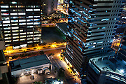 Manila city streets at night.