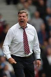 West Ham United Manager, Sam Allardyce reacts after his team concede a goal - Photo mandatory by-line: Mitch Gunn/JMP - Tel: Mobile: 07966 386802 21/09/2013 - SPORT - FOOTBALL - Boleyn Ground - London - West Ham United V Everton - Barclays Premier League