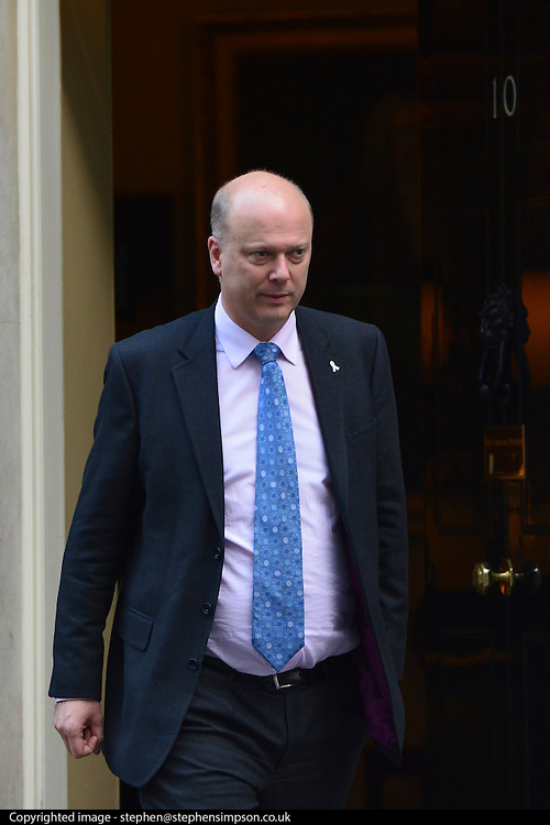 © Licensed to London News Pictures. 29/11/2012. Westminster, UK Justice Secretary Chris Grayling leaves Downing Street today 29th November 2012. Photo credit : Stephen Simpson/LNP