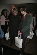 Germaine Greer and Jarvis Cocker, The South Bank Show Awards, Savoy Hotel. London. 23 January 2007.  -DO NOT ARCHIVE-© Copyright Photograph by Dafydd Jones. 248 Clapham Rd. London SW9 0PZ. Tel 0207 820 0771. www.dafjones.com.