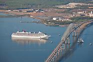 Aerial Photos of Baltimore Ports and Inaugural Sail of Carnival Pride Cruise Ship