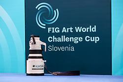 Canon lens 200mm and a logo during Finals of Artistic Gymnastics FIG World Challenge Koper 2018, on June 3, 2017 in Arena Bonifika, Koper, Slovenia. Photo by Matic Klansek Velej/ Sportida