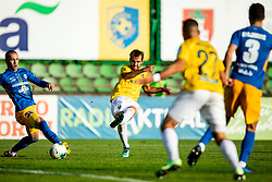 Žan Zaletel of Celje vs Mustafa Nukić of Bravo during football match between NK Bravo and NK Celje in 13th Round of Prva liga Telekom Slovenije 2019/20, on October 5, 2019 in ZAK stadium, Ljubljana, Slovenia. Photo by Vid Ponikvar / Sportida