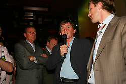LIVERPOOL, ENGLAND - WEDNESDAY, JUNE 9th, 2005: Liverpool Legend Kenny Dalglish take to the mic at the Players Party at the St Thomas Hotel during the 4th Liverbird Developments Liverpool International Tennis Tournament. (Pic by Dave Rawcliffe/Propaganda)