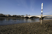 Chiswick. London.  University Boat Race, finishing post on the North bank of the River Thames, Middx side at Chiswick/Mortlake.  2011 Women's Head of the River Race, Mortlake to Putney, over the  Championship Course. Saturday  19/03/2011 [Mandatory Credit, Peter Spurrier/Intersport-images]