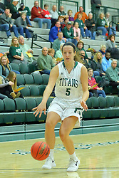 06 December 2017:  Riley Brovelli during an NCAA women's basketball game between the Wheaton Thunder and the Illinois Wesleyan Titans in Shirk Center, Bloomington IL