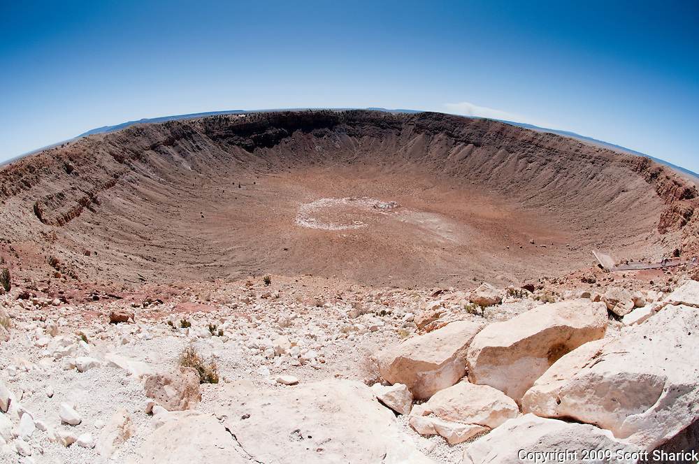 A wide angle image of Meteor Crater in Arizona. Missoula Photographer