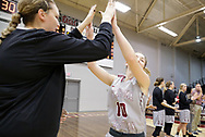 November 4, 2017: The York College Panthers play against the Oklahoma Christian University Lady Eagles in a homecoming exhibition game in the Eagles Nest on the campus of Oklahoma Christian University.