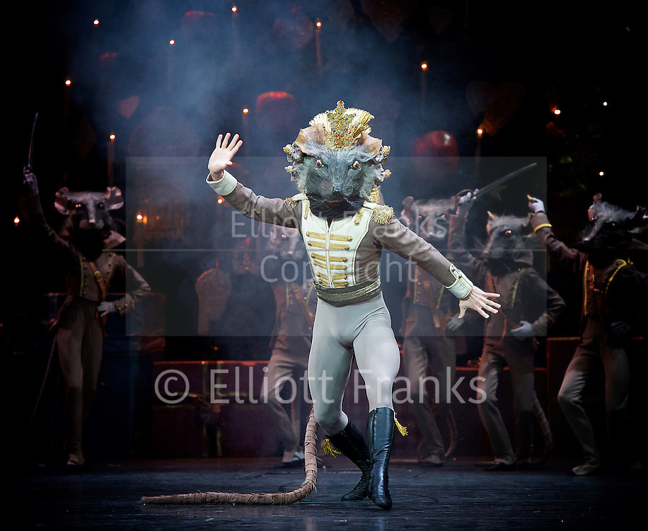 The Nutcracker<br /> <br /> Choreography by Peter Wright after Lev Ivanov<br /> Music by Tchaikovsky<br /> <br /> The Royal Ballet at the Royal Opera House, Covent Garden, London, Great Britain <br /> <br /> Pre-General Rehearsal <br /> <br /> 7 December 2015 <br /> <br /> Iana Salenko as Sugar Plum Fairy <br /> <br /> Steven McRae as The Prince                  <br /> <br /> Francesca Hayward as Clara  <br /> <br /> Alexander Campbell as Hans-Peter / The Nutcracker <br /> <br /> Gary Avis as Drosslemeyer  <br /> <br /> <br /> <br /> <br /> Photograph by Elliott Franks <br /> Image licensed to Elliott Franks Photography Services