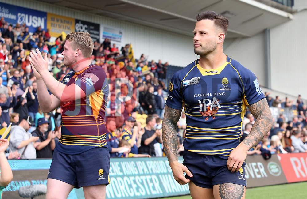 Francois Hougaard of Worcester Warriors during the lap of honour  - Mandatory by-line: Joe Dent/JMP - 18/05/2019 - RUGBY - Sixways Stadium - Worcester, England - Worcester Warriors v Saracens - Gallagher Premiership Rugby
