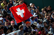 Supporters from Switzerland while Day Seventh during The French Open 2013 at Roland Garros Tennis Club in Paris, France.<br /> <br /> France, Paris, June 01, 2013<br /> <br /> Picture also available in RAW (NEF) or TIFF format on special request.<br /> <br /> For editorial use only. Any commercial or promotional use requires permission.<br /> <br /> Mandatory credit:<br /> Photo by © Adam Nurkiewicz / Mediasport