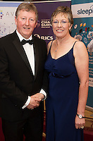 repro free: Sean and Geraldine Canney at the Society of Chartered Surveyors of Ireland West branch Annual Dinner 2017 at the Ardilaun Hotel, Galway. Photo:Andrew Downes.